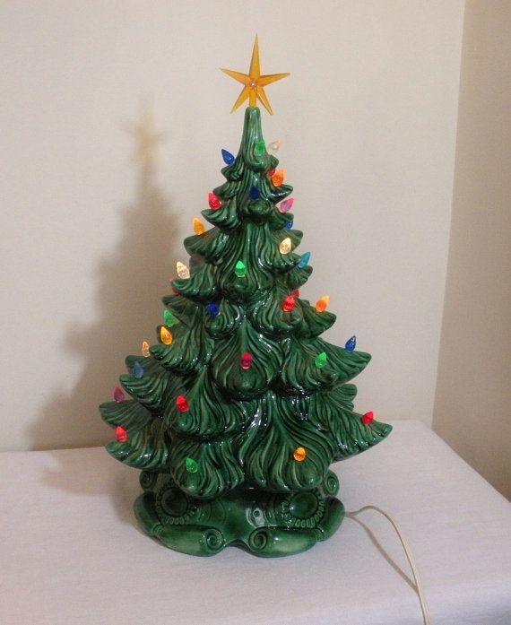 Vintage Atlantic Mold Musical Ceramic Christmas Tree Ceramic Christmas Trees Vintage Ceramic Christmas Tree Christmas Tree