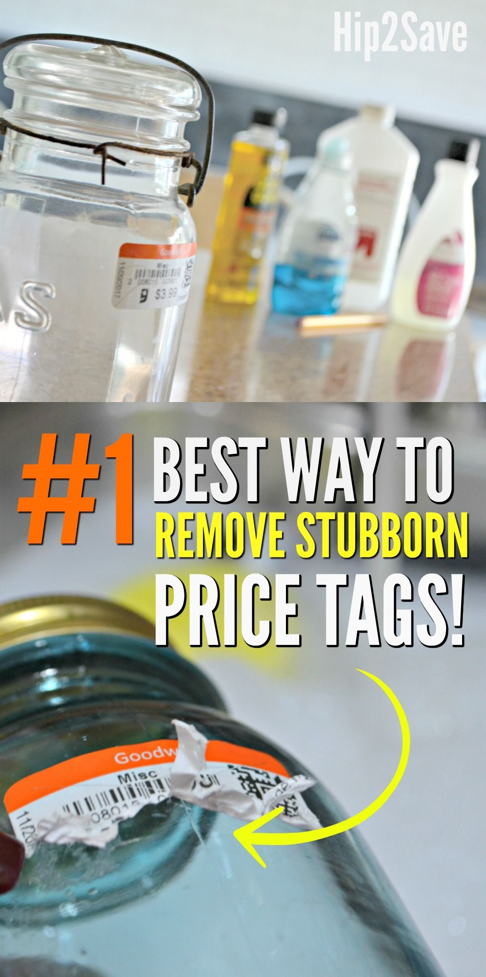 The Best Way To Remove Stubborn Sticker Price Tags Hip2save Get Stickers Off Sticker Price How To Remove