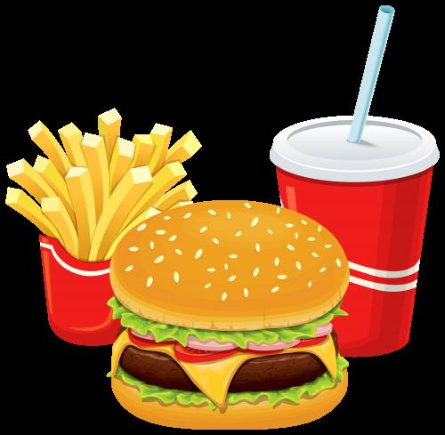 Hamburger Fries And Cola Png Clipart Food Png Hamburger And Fries Food Clipart