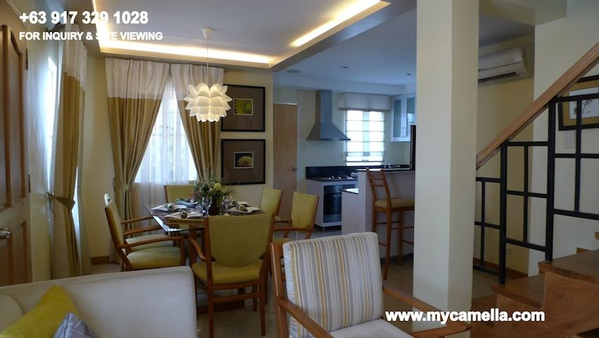 Drina house model camella drina house for sale in for Camella homes design pictures