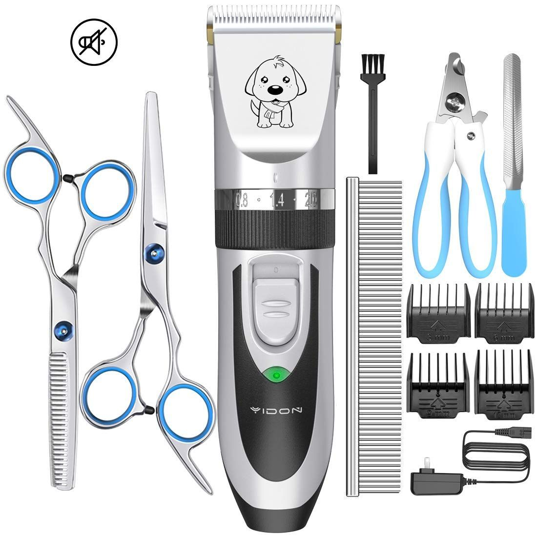 Yidon Dog Clippers Low Noise Cordless Rechargeable Professional Dog Grooming Kit For Dogs Cats Pets Upgrade Y In 2020 Dog Clippers Dog Grooming Dog Supplies Online