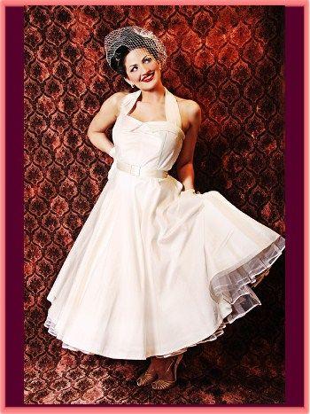 81c29d41fe0 50s style uptown doll ivory silk tea length wedding dress  325