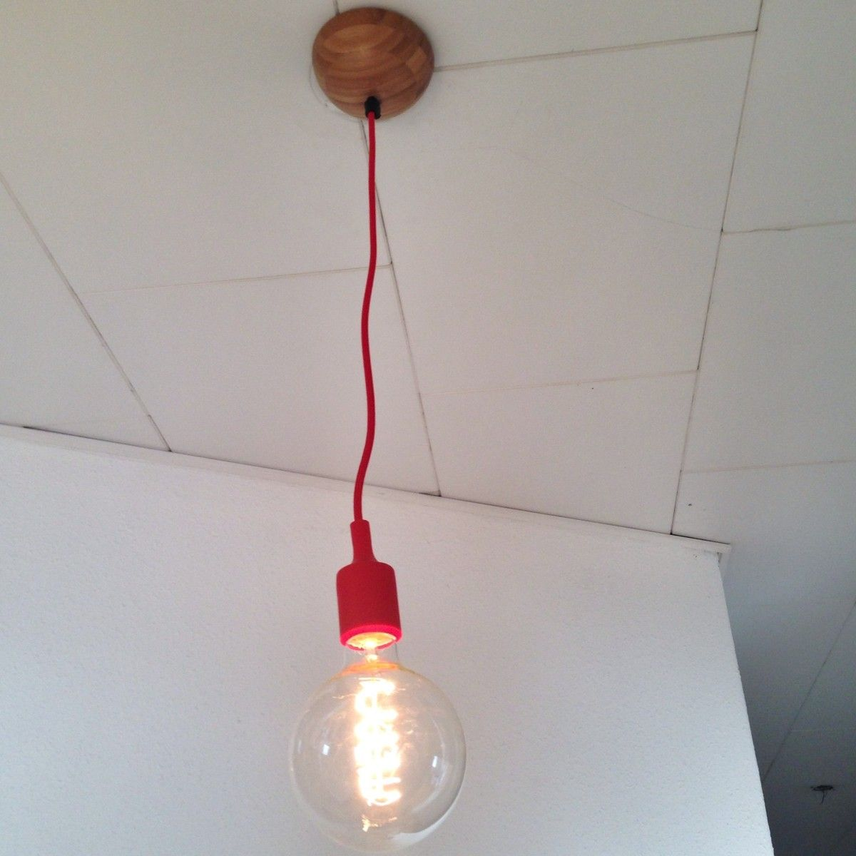 Blanda Matt serving bowl to ceiling light canopy hack IKEA Hackers