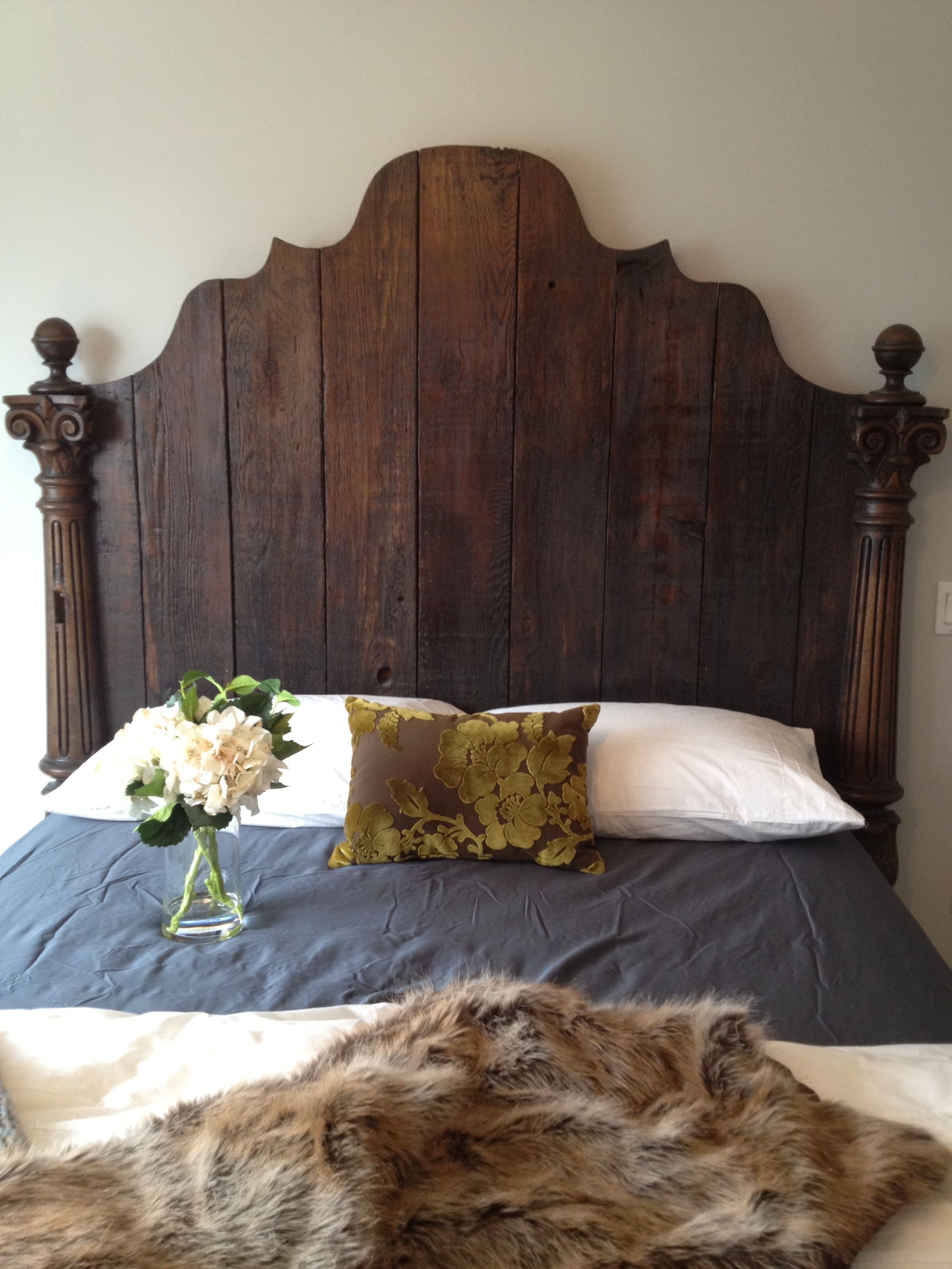 Best Rustic Barnboard Headboard Wallpaper Headboard 400 x 300