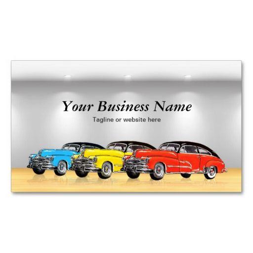 Classic car dealer showroom unique automotive business cards old classic car dealer showroom unique automotive business cards reheart Image collections