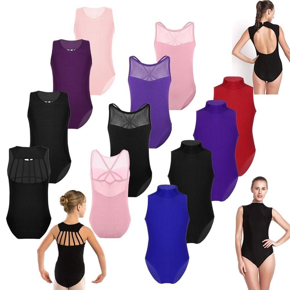 UK Kid Girl Gymnastics Dance Leotard Ballet Leotard Dancewear Full Body Jumpsuit