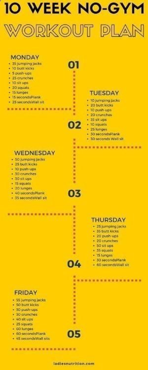 Home Workout Plan: simple exercises with 100% without equipment   - fitness and exercise - #equipmen...