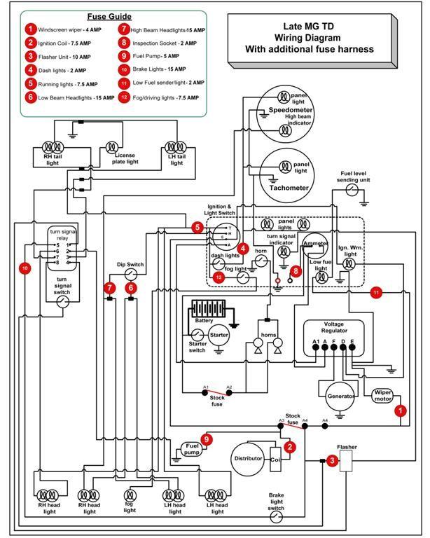1950 mg td wiring diagram