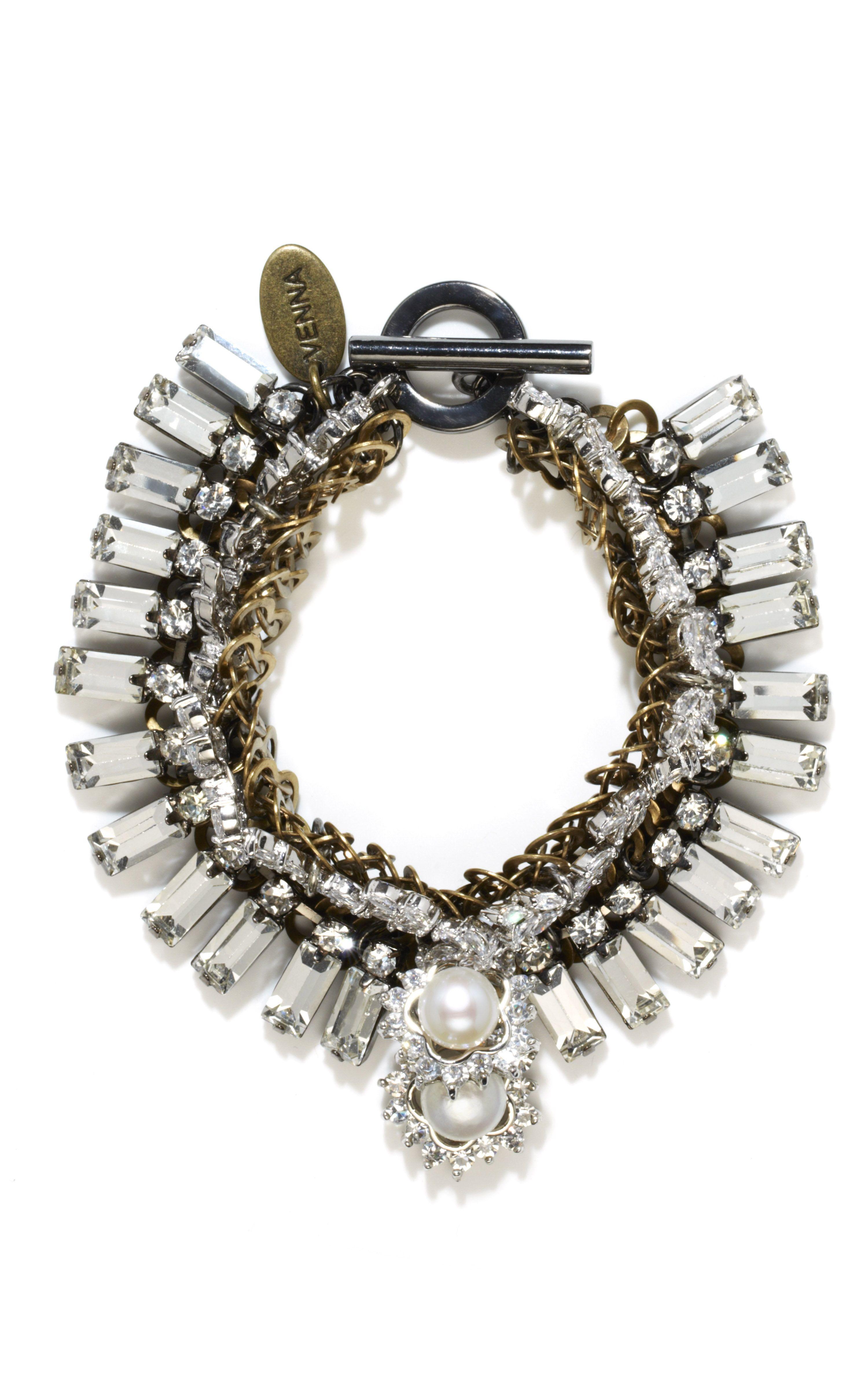 Venna, Mixed-Shape Swarovski Crystal Bracelet.