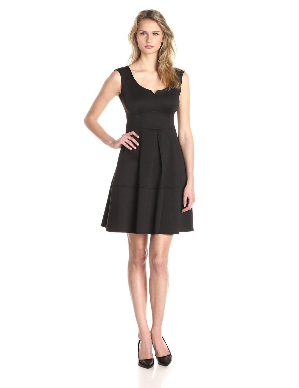 Sleeveless V Neck Fit And Flare Dress By Gabby Skye