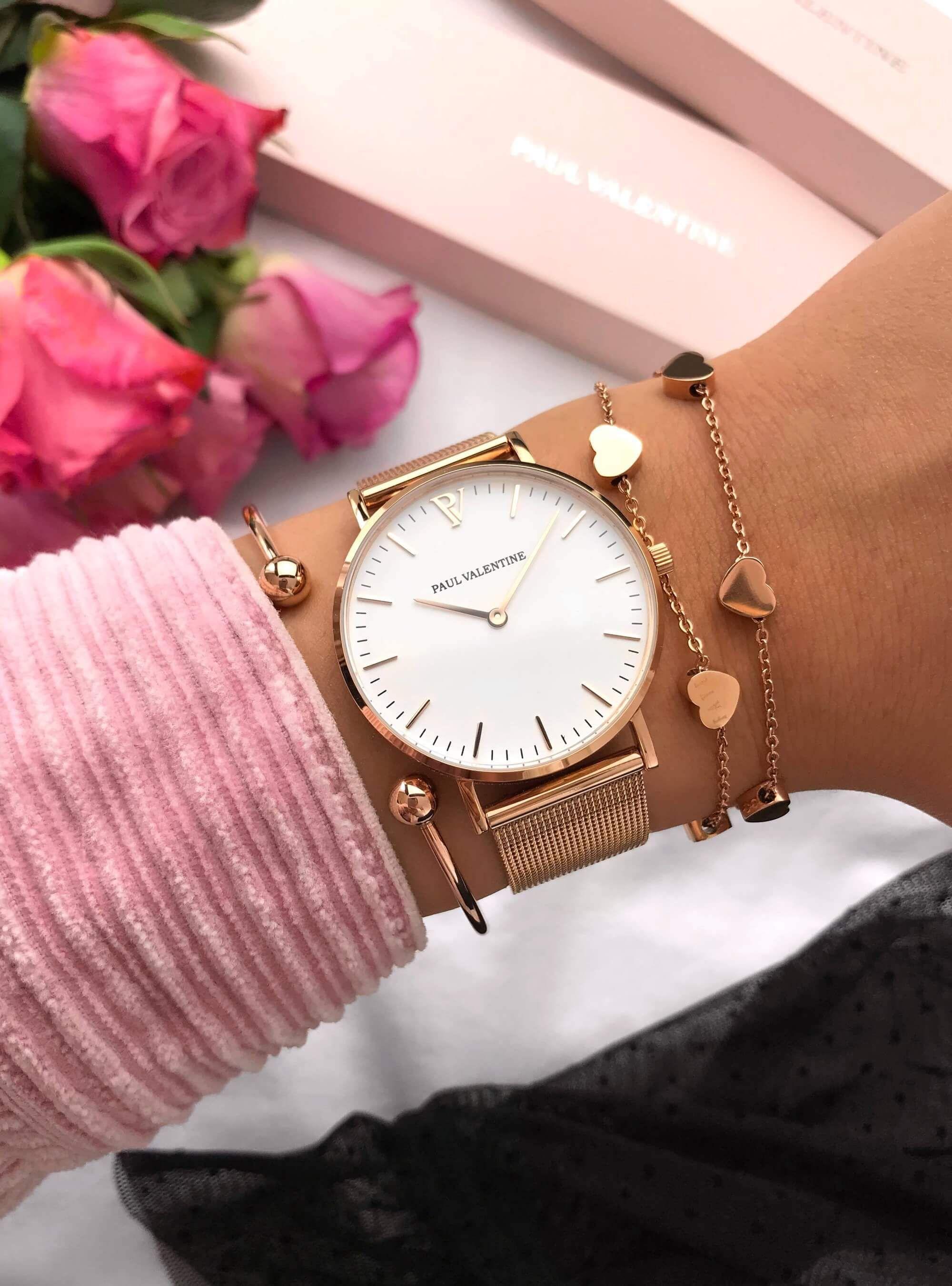 Marina Rose Gold Mesh Modische Armbanduhren Frauen