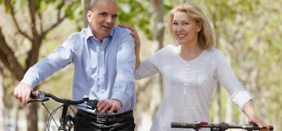 A couple out bikeriding and improving their lives