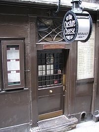 Ye Olde Cheshire Cheese - one of the oldest pubs in London