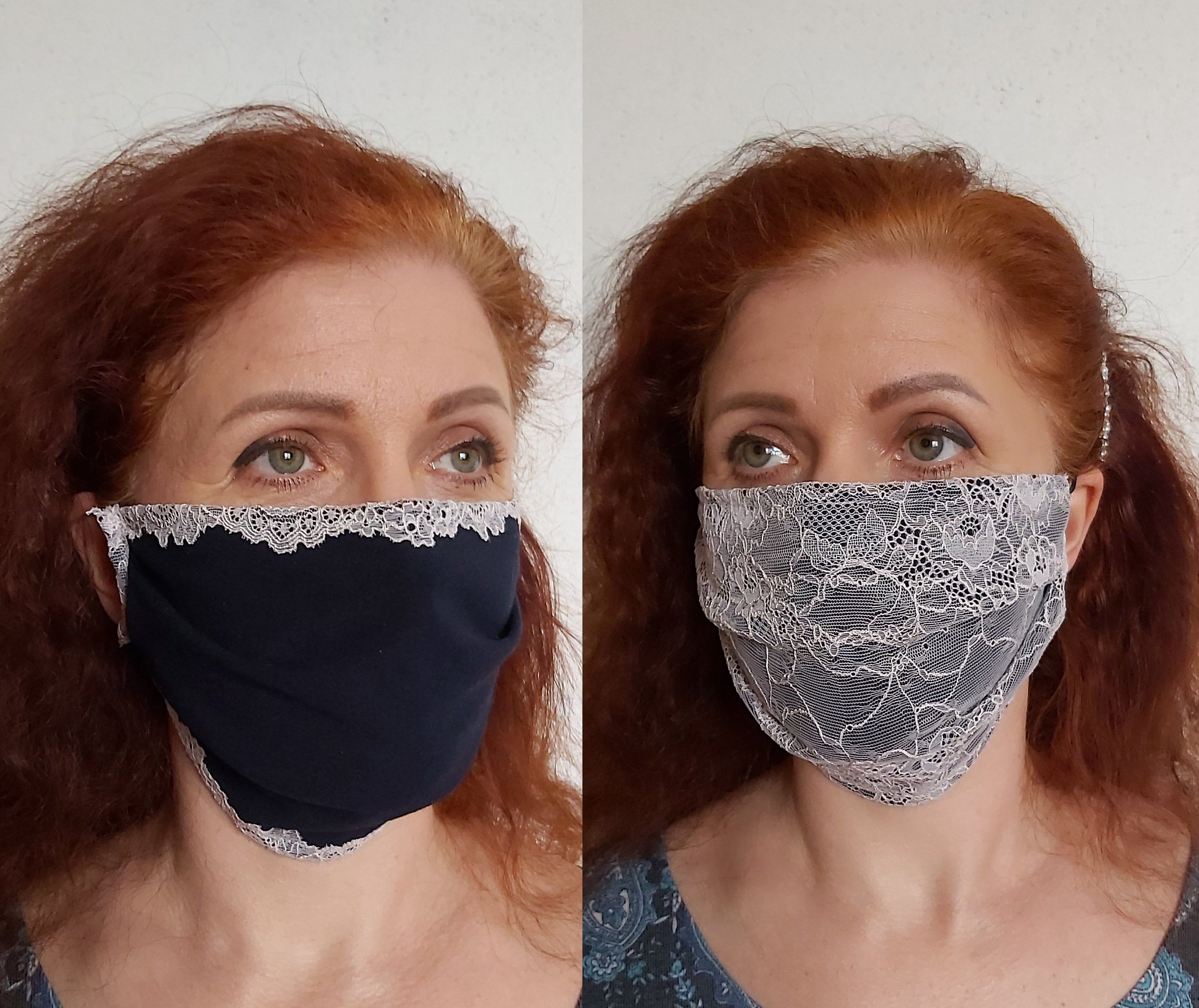 Elegant lace face mask, Face mask for wedding and everyday