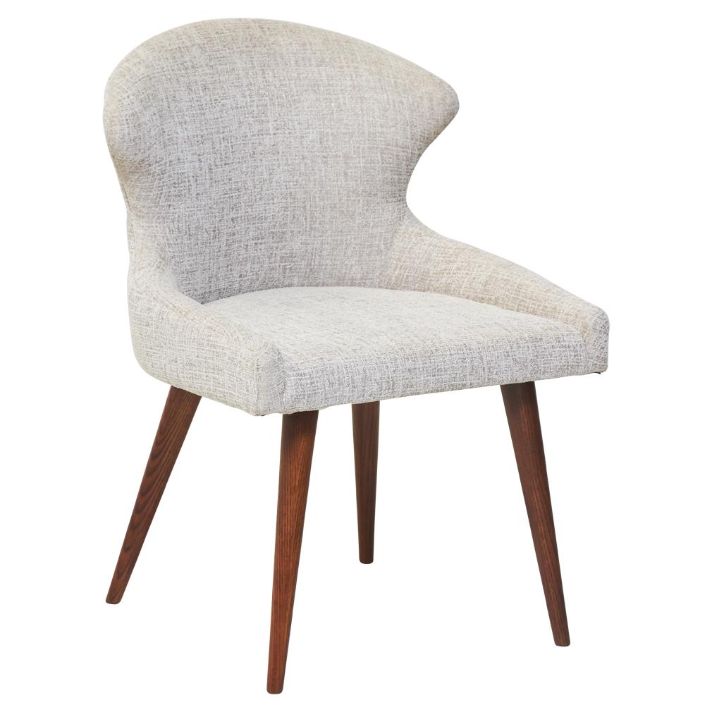 Humphrey Fabric Dining Chair Light Grey Matt Blatt Fabric