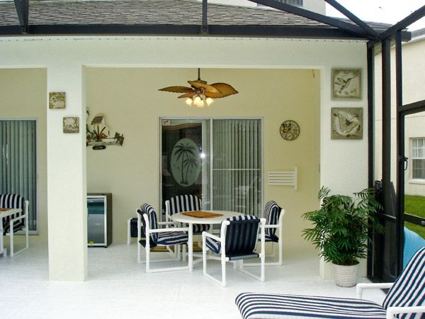 Florida Lanai Decorating Ideas | ... Sunbrella drapes complete the ...