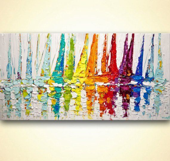 How To Paint Abstract Art On Canvas With Acrylic