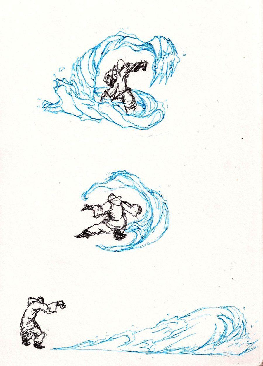 Waterbending Doodls By Moptop4000 Deviantart Com On Deviantart