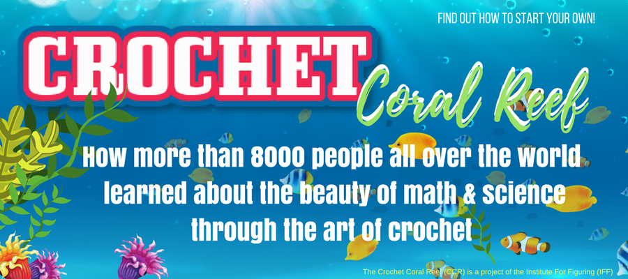Crochet Coral Reef - Marrying a Love For Math, Coral and Art plus free crochet patterns https://babytoboomer.com/2017/02/11/crochet-coral-reef/