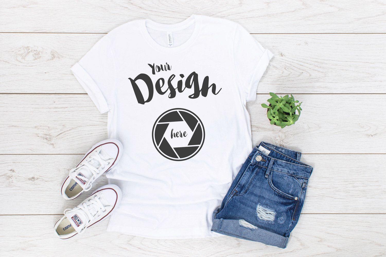 Download White Bella Canvas 3001 T Shirt Mockup Unisex T Shirt Flat Etsy Shirt Mockup Clothing Mockup Tshirt Mockup