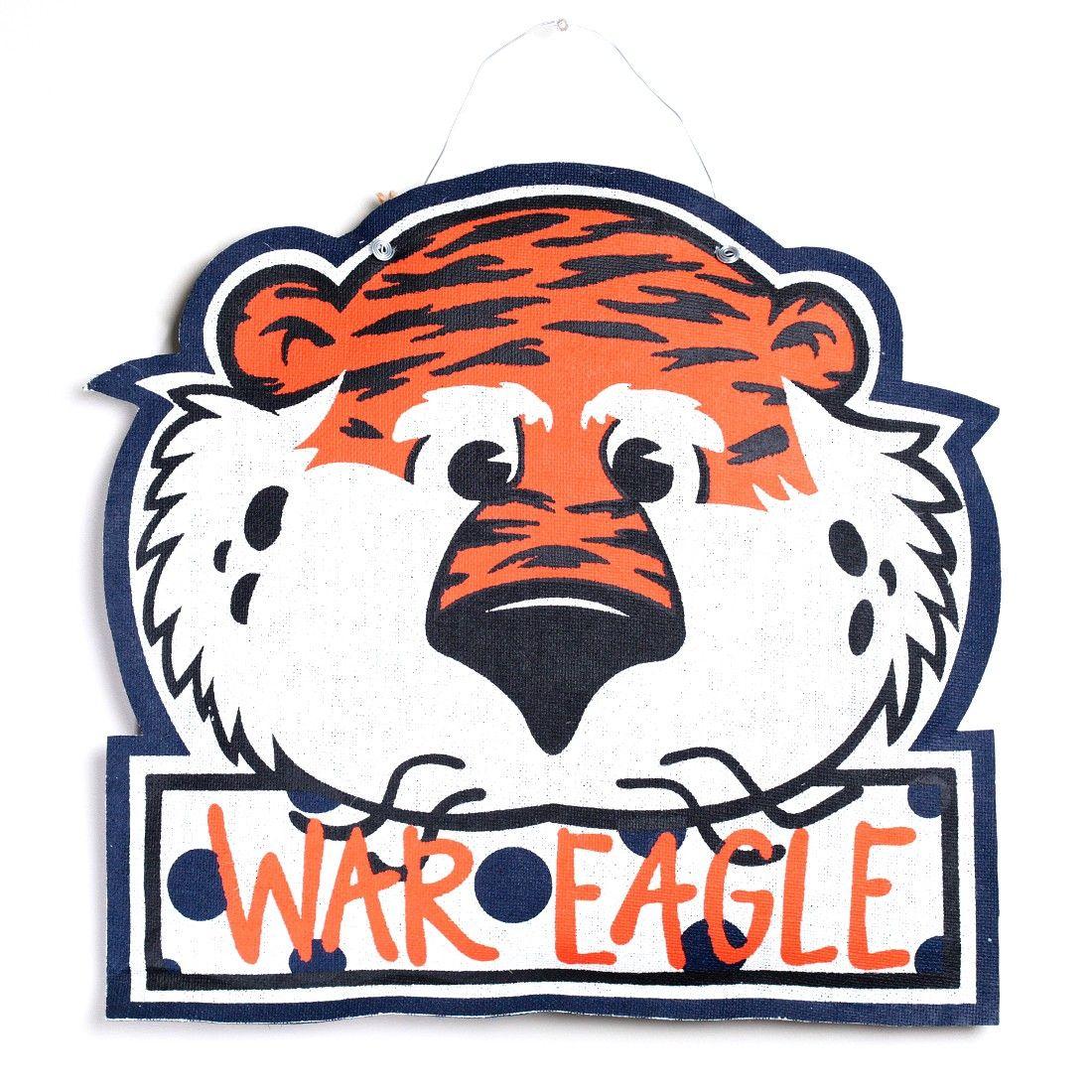 aubie burlap door hanger door decor pinterest rh fi pinterest com Auburn Tiger Eyes Auburn Tigers Wallpaper