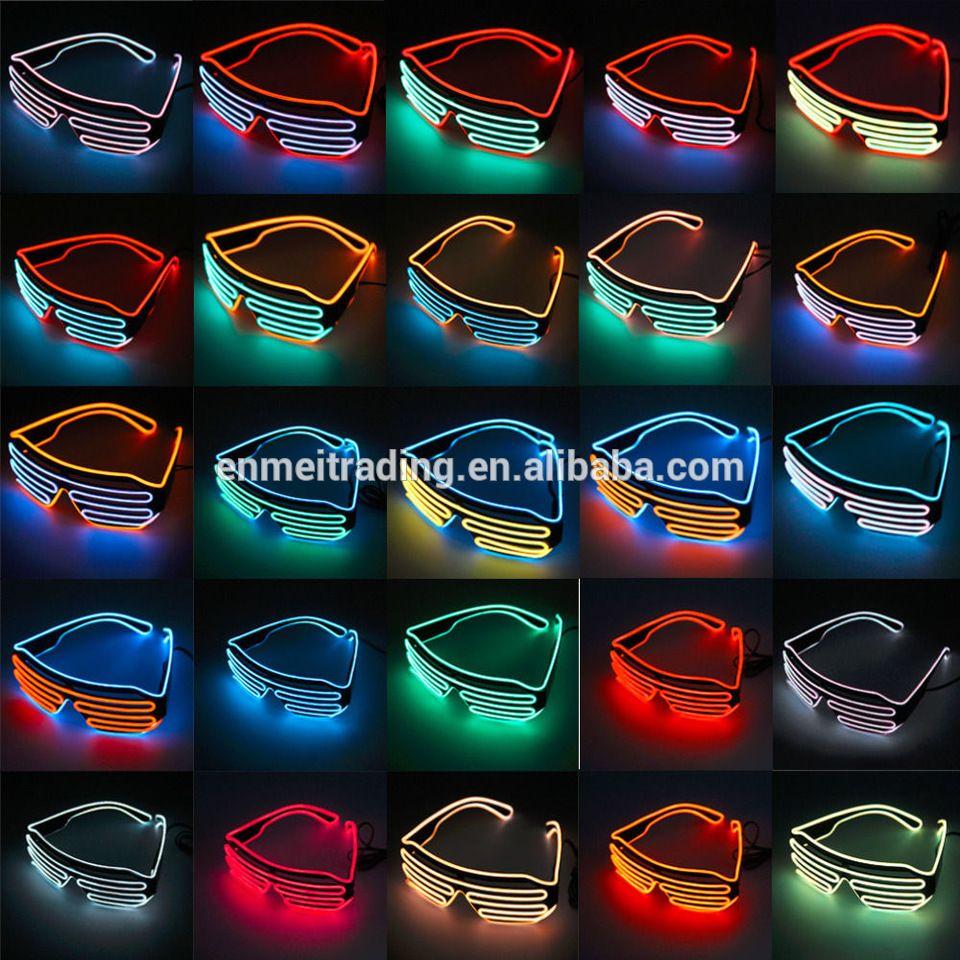 New Design El Wire Neon Colorful Shutter Glasses For Christmas Fun ...