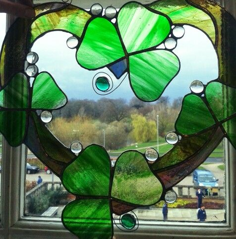 Wedding present - shamrock/heart shape in green (their son's favourite colour)