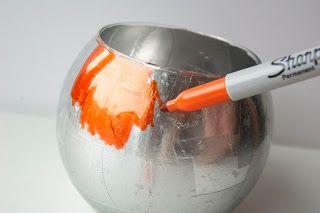 OMG loved them!!!!  DIY Mod Metallic Glass Candleholders