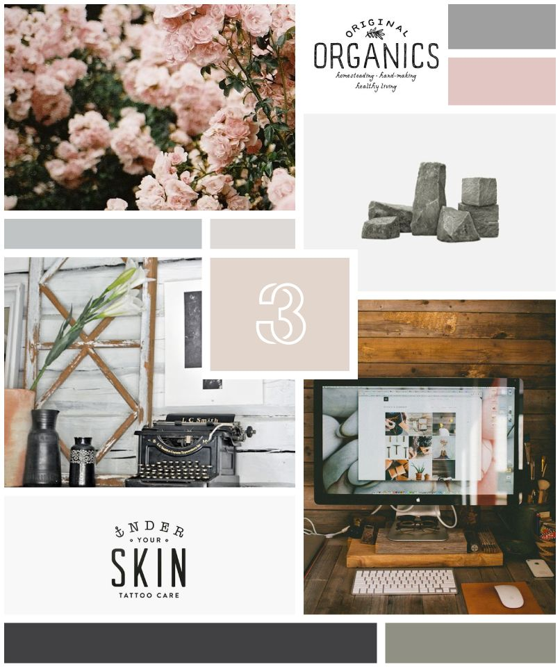 Layout Graphic Design Inspiration: Moodboard : Vintage Feminine
