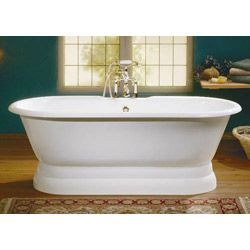 Captivating Cheviot Regal Junior Double Ended Bath With Pedestal   7 Inch Rim Drillings
