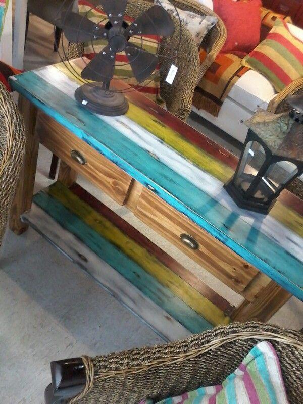 Mesa de Arrime de colores | Funky junk ideas | Pinterest | De ...