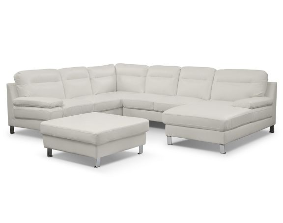 American Signature Furniture - Cortina II Leather Collection-3 Pc ...