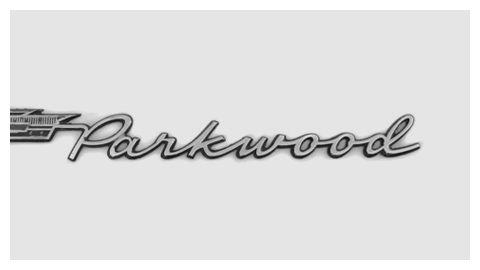 1960 Chevrolet Chrome Script Lettering On The Parkwood Station