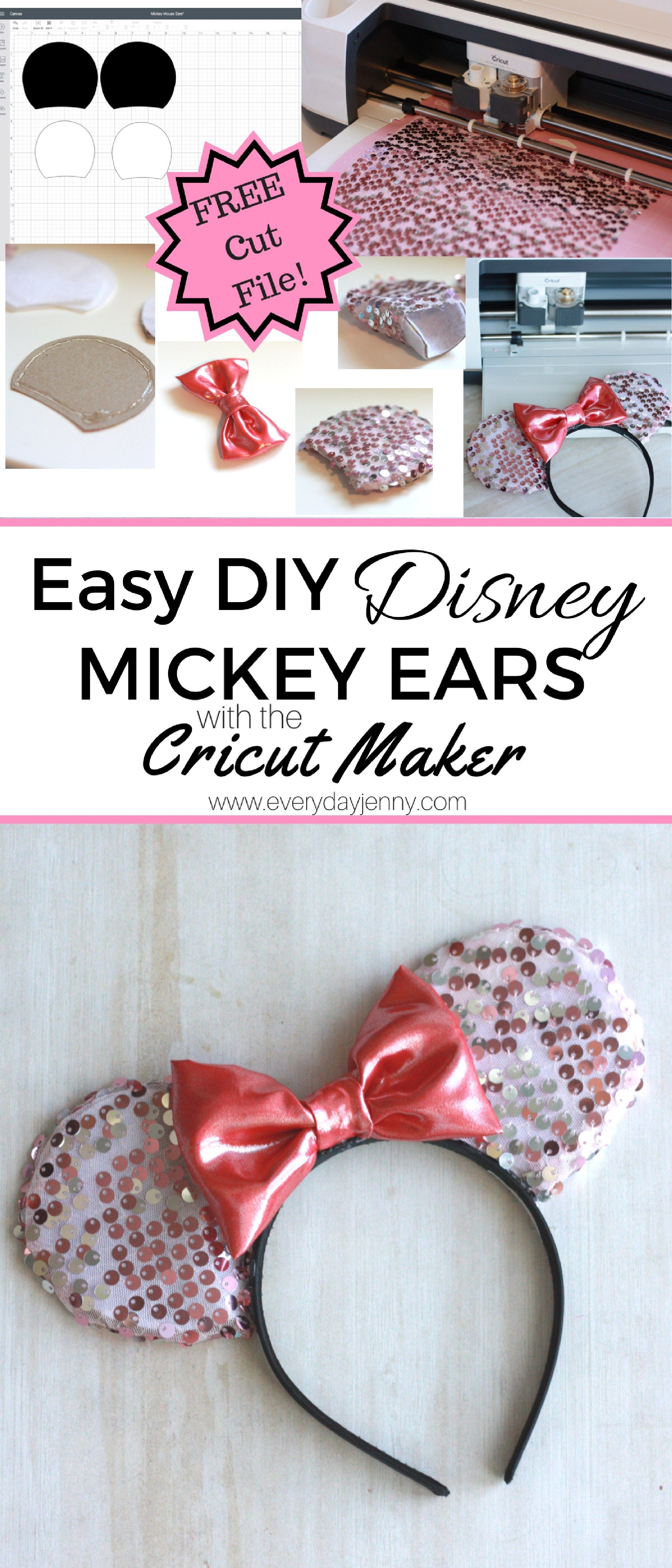 Easy DIY Disney Minnie (or Mickey) Mouse Ears tutorial  Use your