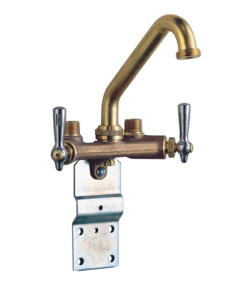 Waltec 2 Handle Rough Brass Laundry Faucet | DIY faucets avec brass ...