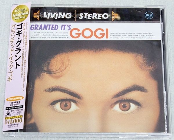 GOGI GRANT Granted ... It's Gogi  Japan CD K2 24bit Mastering BVCJ38185