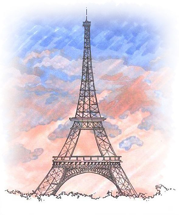 Personal Sketches Hand Renderings Eiffel Tower Drawing Eiffel