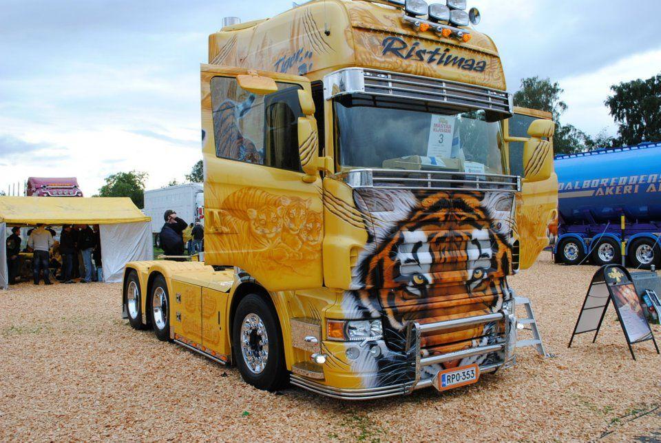 Mode Of Transportation  Serafini Amelia  Tiger Themed Semi Truck-bob tailed   Mode Of ...