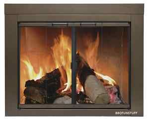 Pleasant Hearth Gl Fireplace Door Abberly Bronze Large Ab 1052 Mesh Screen Ebay