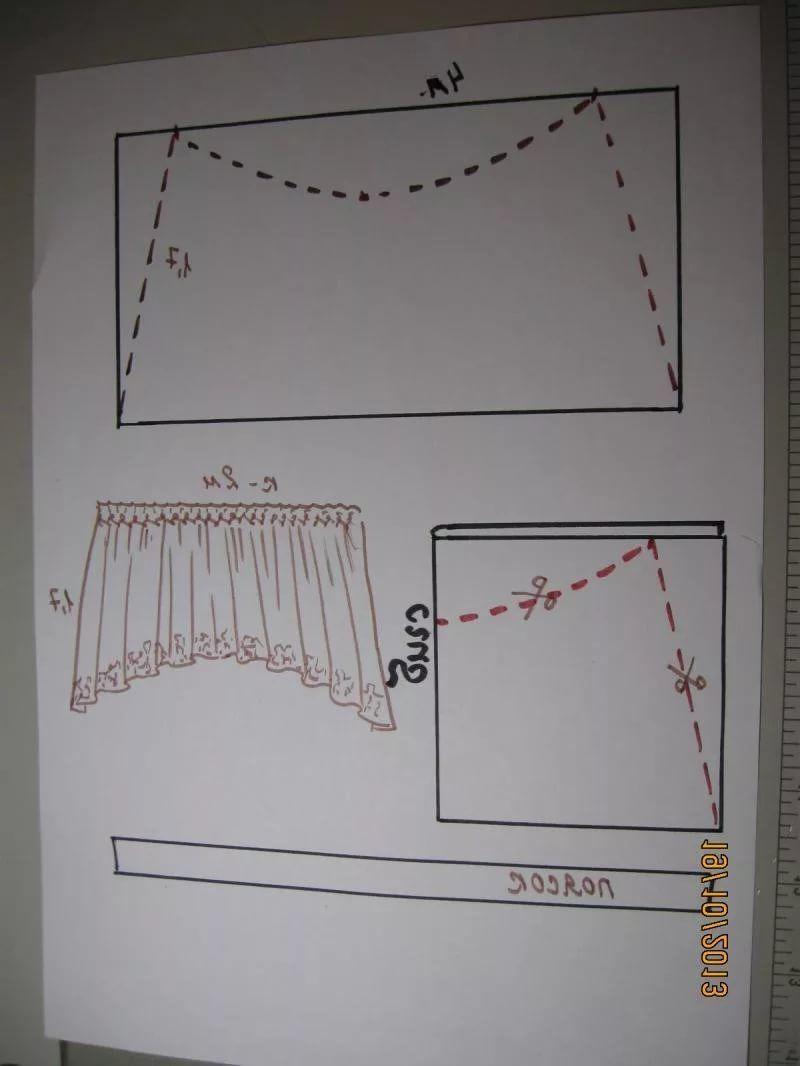 шторы арка для кухни фото и выкройка выбирающие