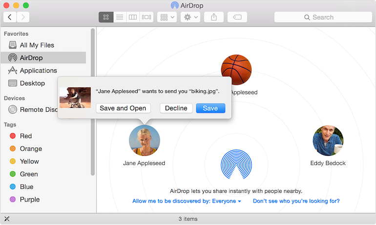 How To Airdrop Files Between Os X Yosemite And Ios Ipad Ipod Touch Yosemite