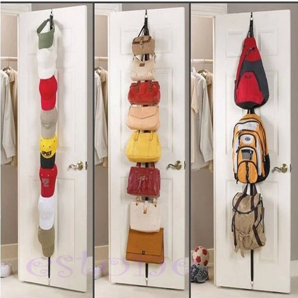 Over The Door Hat Rack Alluring Ootdty 1Pc Adjustable Over Door Straps Hanger Hat Bag Coat Clothes Design Decoration