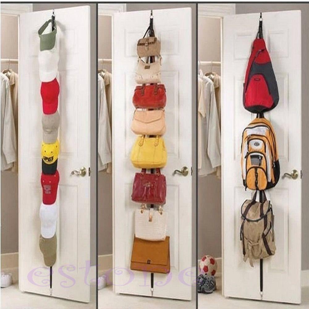 OOTDTY 1pc Adjustable Over Door Straps Hanger Hat Bag Coat Clothes Rack  Organizer 8 Hooks | Housekeeping U0026 Organization | Pinterest | Clothes  Racks, ...
