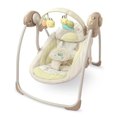 Bright Starts Comfort And Harmony Portable Swing Biscotti Baby Really Love It Http Amzn To Ismhcc Portable Baby Swing Baby Swing Chair Baby Swings