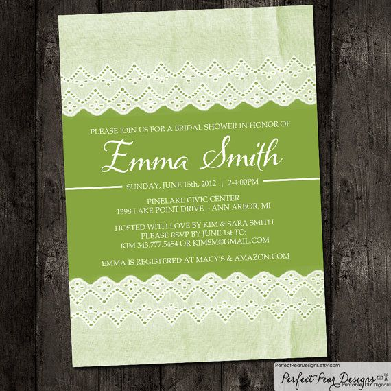 Bridal Shower Invitation Vintage Lace Autumn by PerfectPearDesigns, $14.00