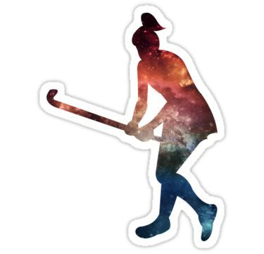 Galactic Field Hockey Girl Sticker By Kaelynnmara In 2020 Field Hockey Girls Field Hockey Stickers Field Hockey