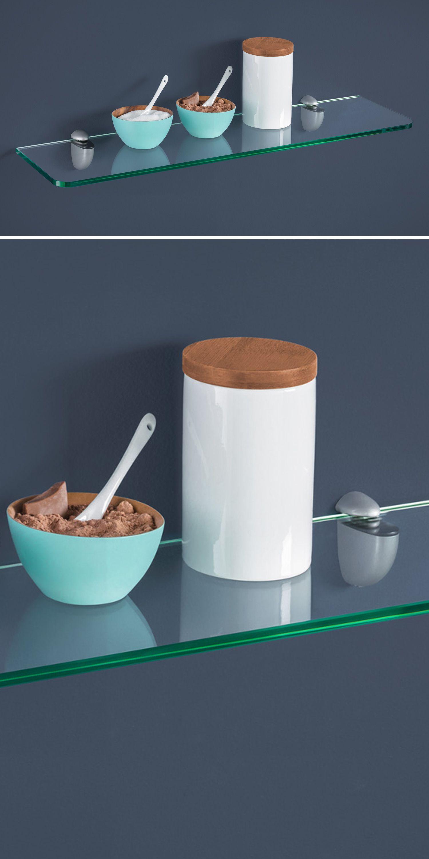 Schönes Glasregal – Küche / Esszimmer / Wohnküche  Glasregal