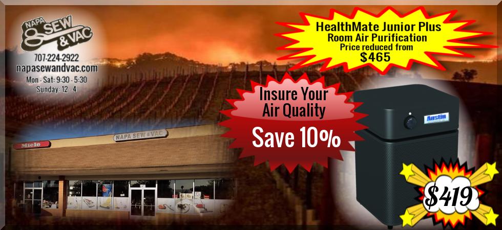 HealthMate Jr. Plus BLACK Clean air, Portable air
