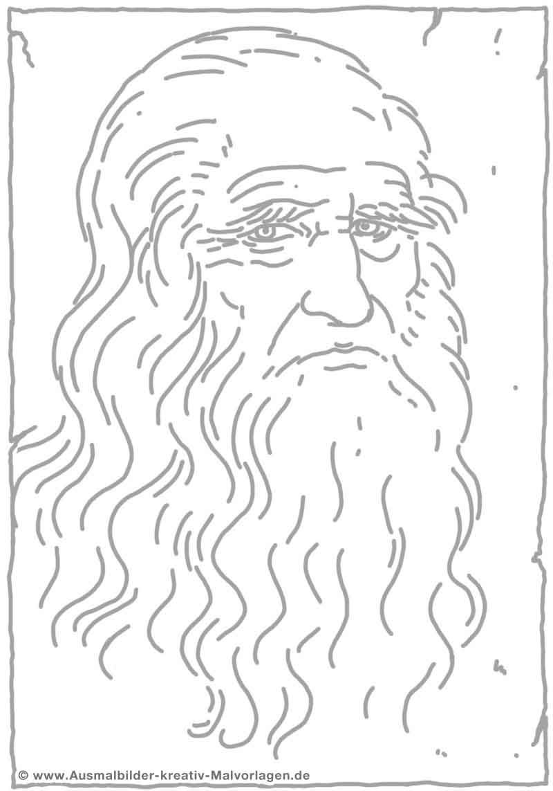 Leonardo da Vinci - Bild von Martin Mißfeldt   coloring   Pinterest ...