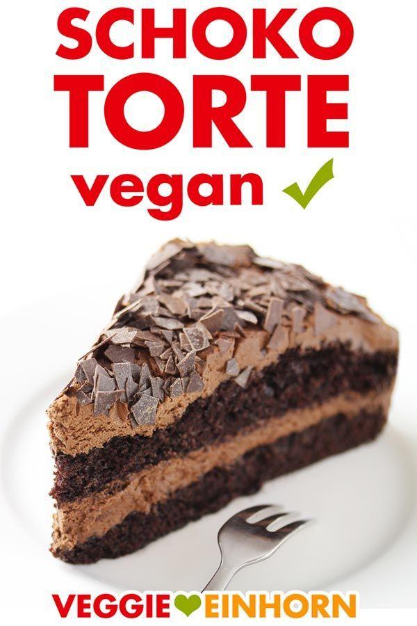 Einfache Vegane Schokotorte | Rezept mit Video & Schritt-für-Schritt Fotos